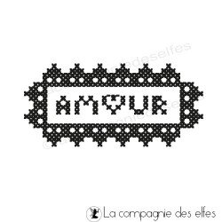 AMOUR broderie tampon nm