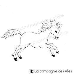 petit cheval tampon nm