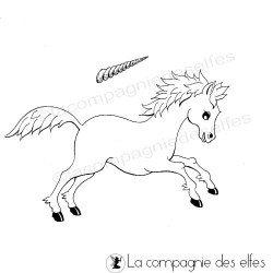 le cheval licorne tampon nm
