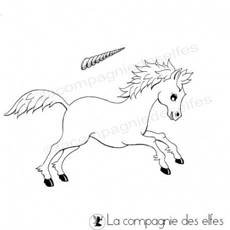 tampon cheval | tampon encreur licorne