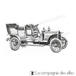 Tampon encreur vieux tacot | tampon vieille voiture