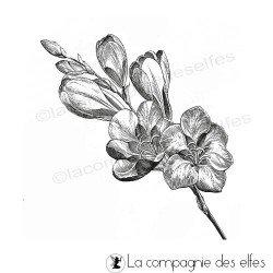un si joli bouquet de fleurs tampon nm