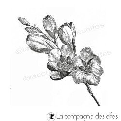 tampon encreur fleur | tampon scrapbooking fleur