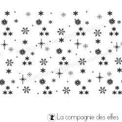 Tampon de fond de Noël - étoiles - nm