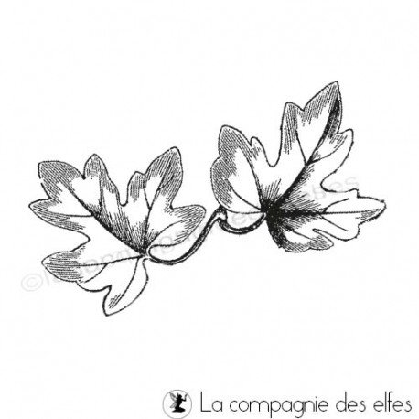 pages scrapbooking septembre Duo-feuilles-de-lierre-tampons-non-montes