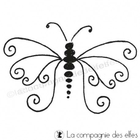 butterfly rubber stamping | tampon scrap papillon