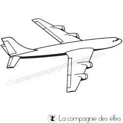 tampon encreur avion | air plane rubber stamp