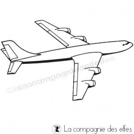 tampon encreur avion | air plane rubber stamp