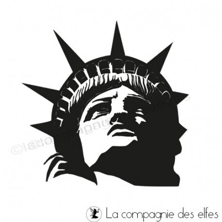 Tampon statue liberté | new york rubber stamp