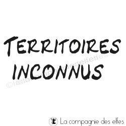 TERRITOIRES INCONNUS tampon nm