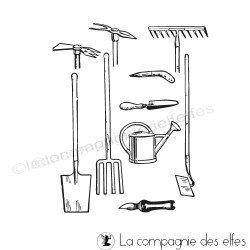 tampons outils de jardin - non montés