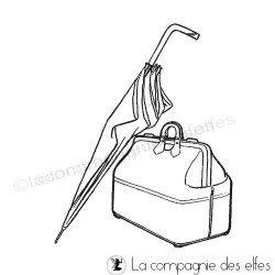 la valise - parapluie vintage - tampon nm