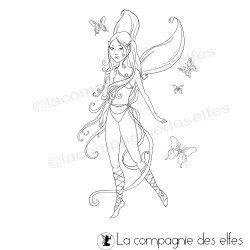 fairy rubberstamp | tampon en ligne fée