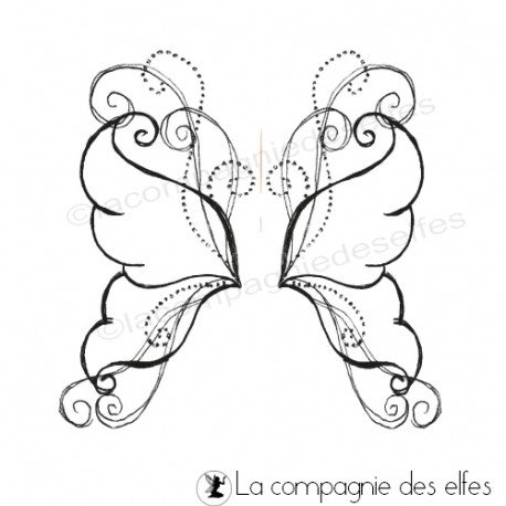 wing butterfly stamp | tampon ailes papillon
