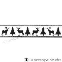 tampon frise de Noël - nm