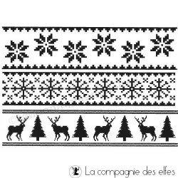 lot tampons frises de Noël - tampons nm