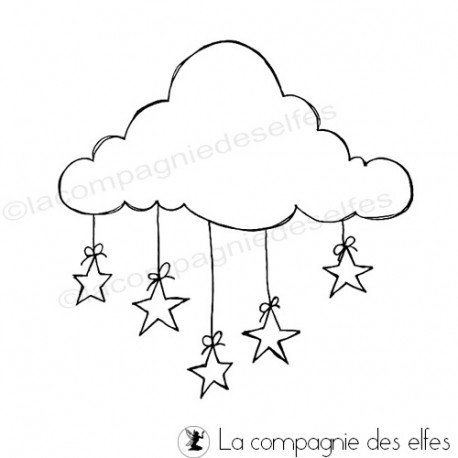 cloud rubber stamp | tampon encreur nauge