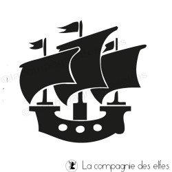 Tampon encreur la mer | boat stamp | tampon scrapbooking vacances