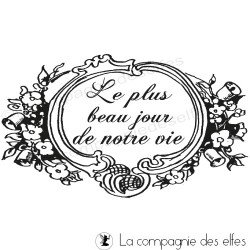le plus beau jour | wedding rubber stamp
