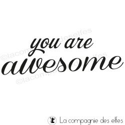 tampon you are awesome - non monté