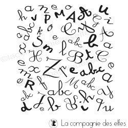 Tampon abécédaire | alphabet tampon | tampon encreur alphabet