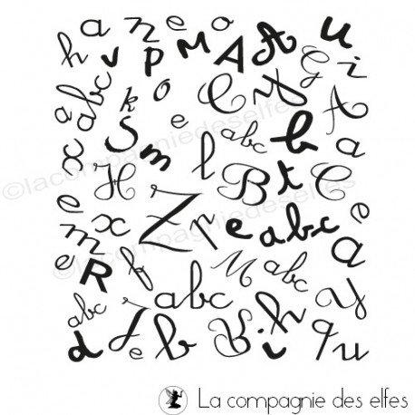 Tampon abécédaire   alphabet tampon   tampon encreur alphabet
