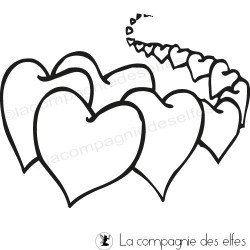 heart rubber stamp | tampon coeur mariage