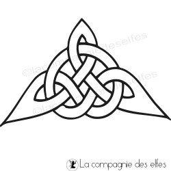 Tampon coin celte | tampon coin bretagne | tampon angle médiéval