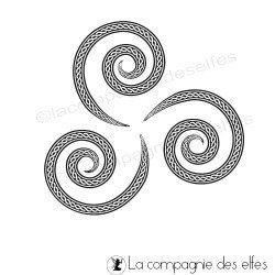 Tampon triskel | tampon triskell | tampon celtique | tampon celte