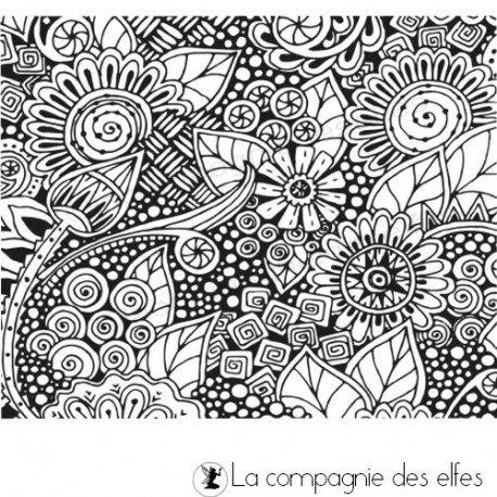 lundi 3  Juin challenge ATC  Tampon-texture-fleurs-non-monte-fimo-papier-