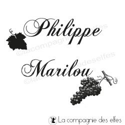Tampon vigne | tampon mariés | tampon raisin