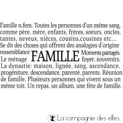 FAMILLE - définition TAMPON nm
