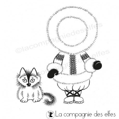 pages scrapbooking. Tampon-tenue-esquimau-pour-cannelle-leo-nm