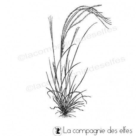 Tampon herbe sauvage | tampon encreur graminé