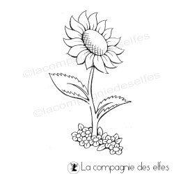 tampon tournesol | tampon fleur | sunflower stamp