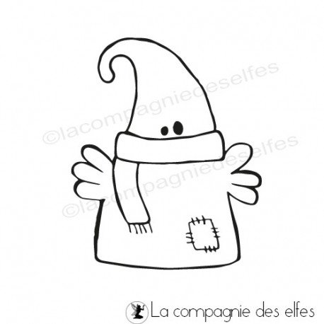 Tampon encreur fantome | ghost rubber stamp