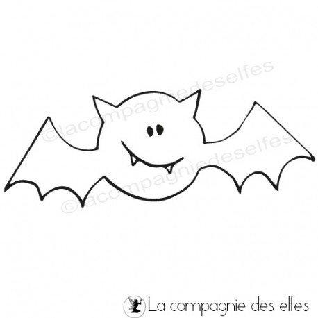 halloween 2/3 Tampon-chauve-souris-non-monte