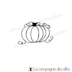 pumpkin rubber stamp | tampon potiron