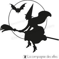 sorcière hallowwen tampon nm