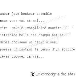 tampons français des petits mots - tampons nm