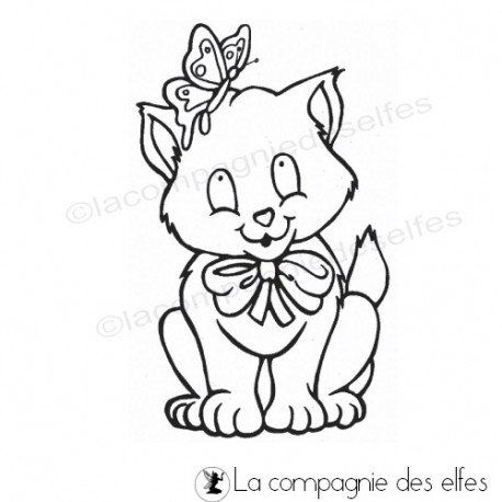 cat stamping | tampon chat scrapbooking
