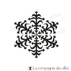crystal snow stamp | tampon cristale de neige