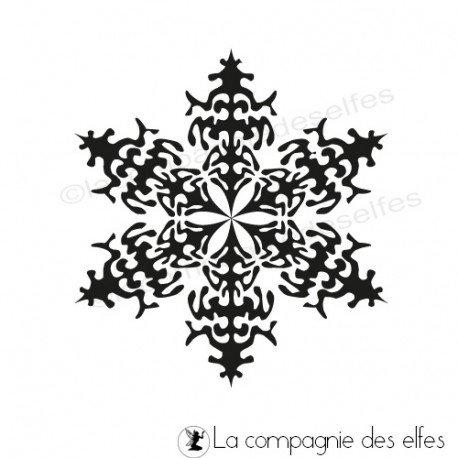 snowfkake stamp | tampon flocon