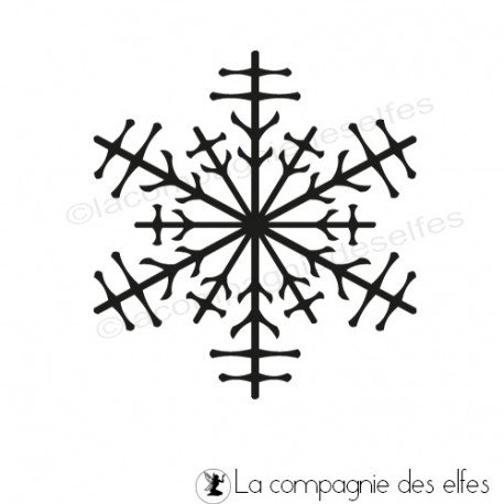 Tampon étoile neige | tampon flocon neige