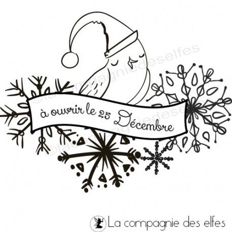 Tampon 25 décembre| tampon encreur noel | christmas stamp