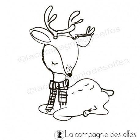 Home Déco pour Noël Tampon-biche-de-noel