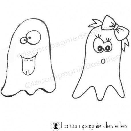 Cartes octobre 2018. Tampons-fantomes-halloween-non-monte