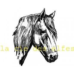 Tampon tête cheval | tampon encreur cheval