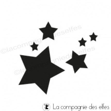 Stars rubber stamp | stern stempel kussen