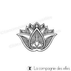 fleur de lotus tampon nm